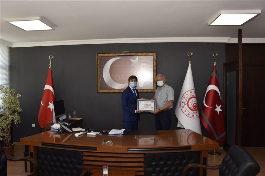 Bölge Müdürlüğümüzce OFG Uluslararası Nakliyat Ve Tic. Ltd. Şti. Firmasına Yetkilendirilmiş Yükümlü Sertifikası Verildi.