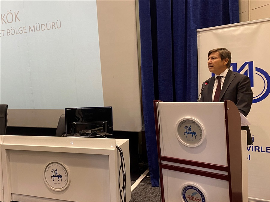 Bölge Müdürümüz Sayın M. Enver KÖK, Yatırımlarda Devlet Yardımları – Yatırım Teşvik Belgesi Konulu Seminer'de konuştu.